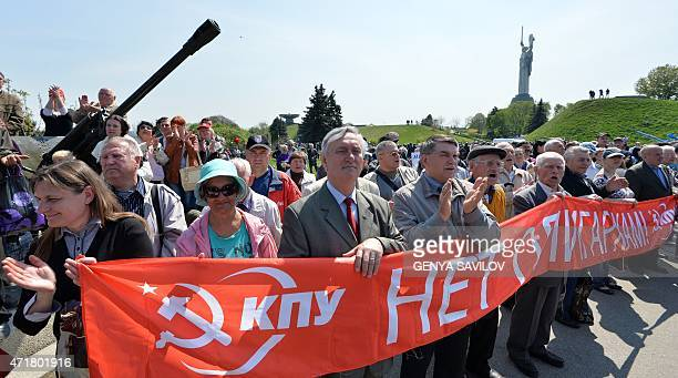Communists rally at the WWII museum marking May Day in Kiev on May 1 2015 On April 9th the Ukrainian parliament voted to ban propaganda by the...