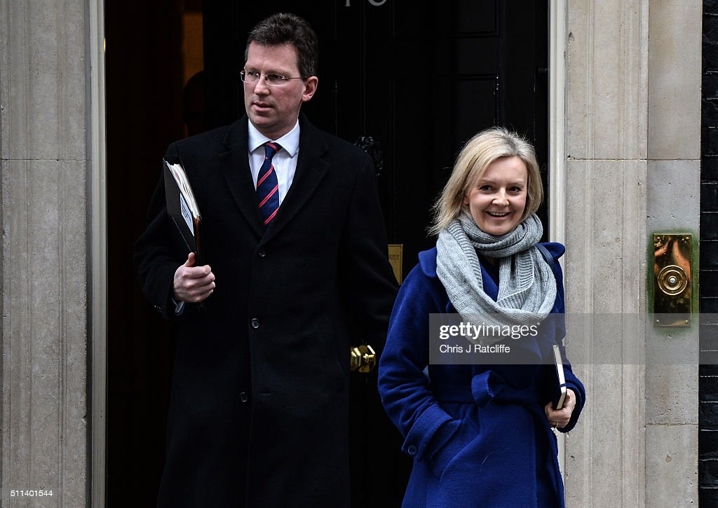 Communities and Local Goverment Secretary Greg Clark and International Development Secretary Justine Greening leave after a cabinet meeting at Downing Street on February 20, 2016 in London, England. Mr Cameron has returned to London after securing a deal following two days of talks with European leaders in Brussels regarding Britain's relationship with the EU. He said the deal will give the United Kingdom 'special status' within the EU. An in/out referendum on EU membership is expected as early as June this year.