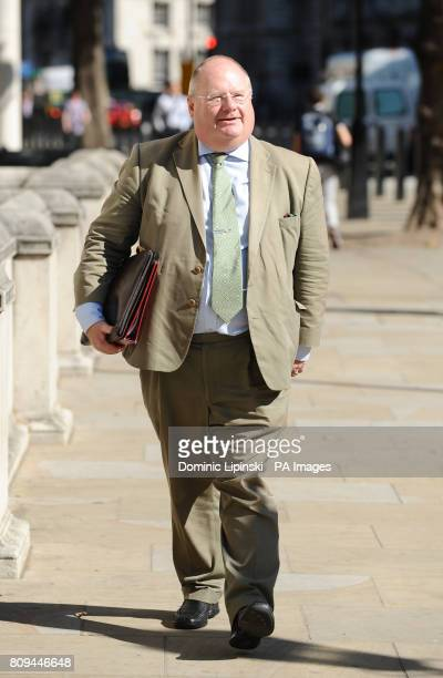 Communities and Local Government Secretary Eric Pickles arrives for a meeting of Cobra at the Cabinet Office Westminster London