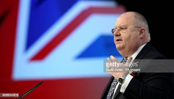 Communities Secretary Eric Pickles at the Conservative Spring Forum at the Welsh Conservative Conference in Cardiff Wales