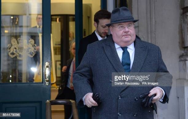 Communities Secretary Eric Pickles leaves a Cobra meeting at the Cabinet Office in London chaired by the Prime Minister where they discussed the...