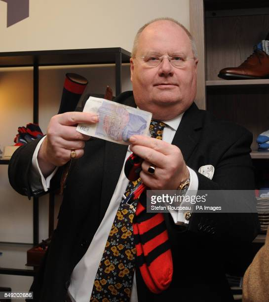 Communities Secretary Eric Pickles shops for new socks at a new PopUp Shop at the Department for Communities and Local Government in central London...