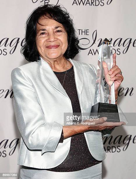 Community activist Dolores Huerta attend the 24th Annual IMAGEN Awards held at the Beverly Hilton Hotel on August 21 2009 in Beverly Hills California