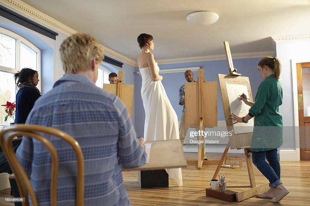 A community art group.