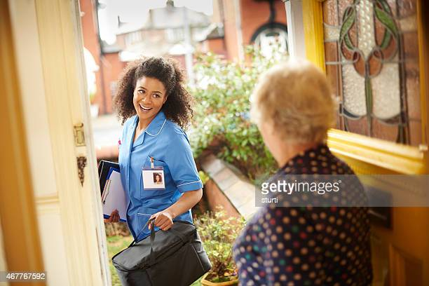 community care nurse visit to senior