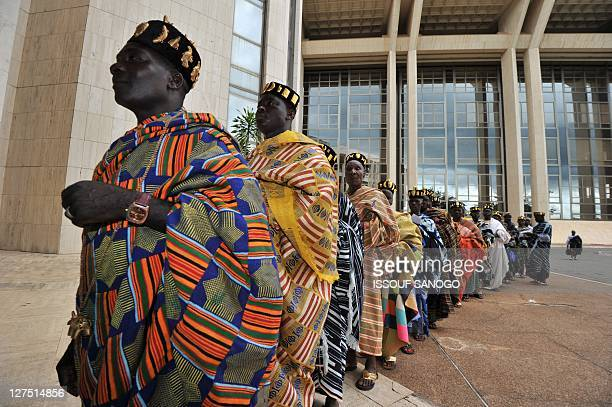 Community leaders from various parts of Ivory Coast arrive for the launch ceremony of the new national Commission on Dialogue Truth and...