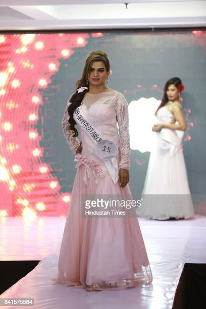 LGBT community member participates in Miss Transqueen India 2017 a beauty pageant for the transgender community on August 27 2017 in Gurugram India