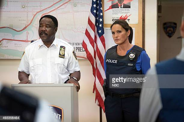UNIT 'Community Policing' Episode 17005 Pictured Isiah Whitlock Jr as Captain Reece Mariska Hargitay as Sergeant Olivia Benson