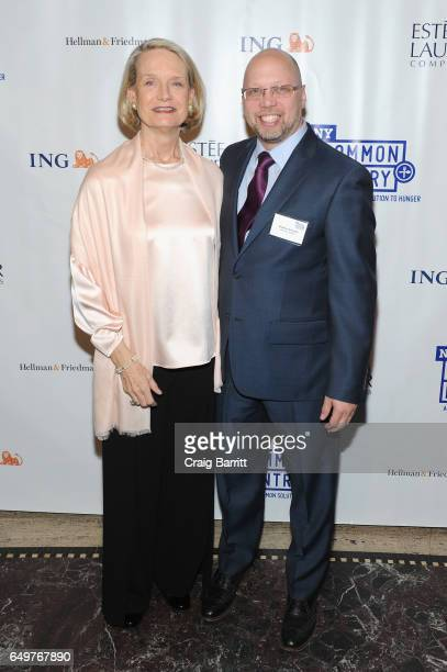 Community Volunteer Candace K Frawley and Executive Director Stephen Grimaldi attend the NY Common Pantry 2017 FILL THE BAG Benefit at Gotham Hall on...