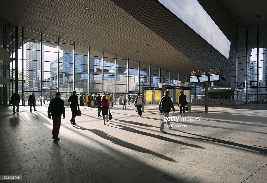 Commute at Rotterdam Central Station