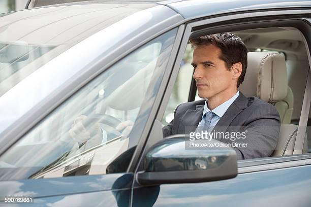 Commuter driving car