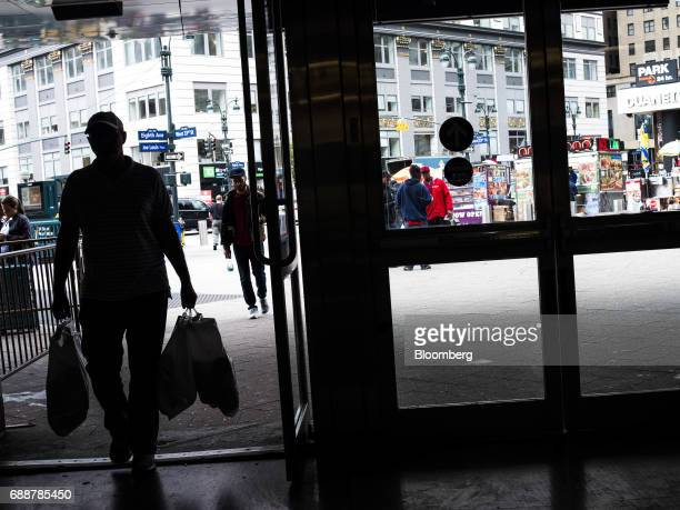 A commuter enters Pennsylvania Station in New York US on Friday May 26 2017 PresidentDonald Trumptapped New York developerSteven Rothas one of...