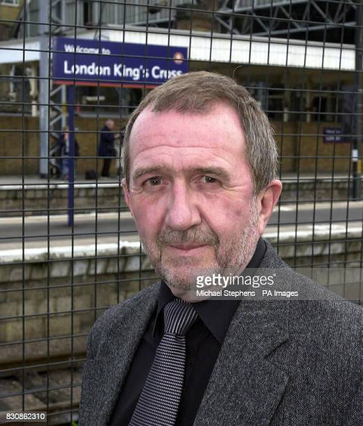 Commuter Kevin O' Neill who warned of track problems before the Potters Bar train crash arrives at Kings Cross Station London on the day he travelled...