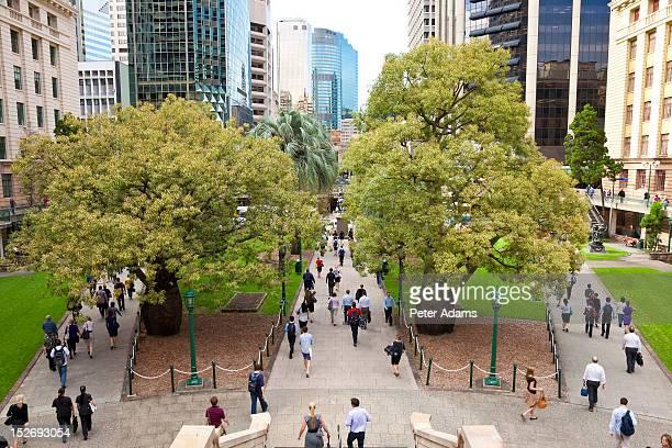 Commuters, Anzac Square, Brisbane, Australia