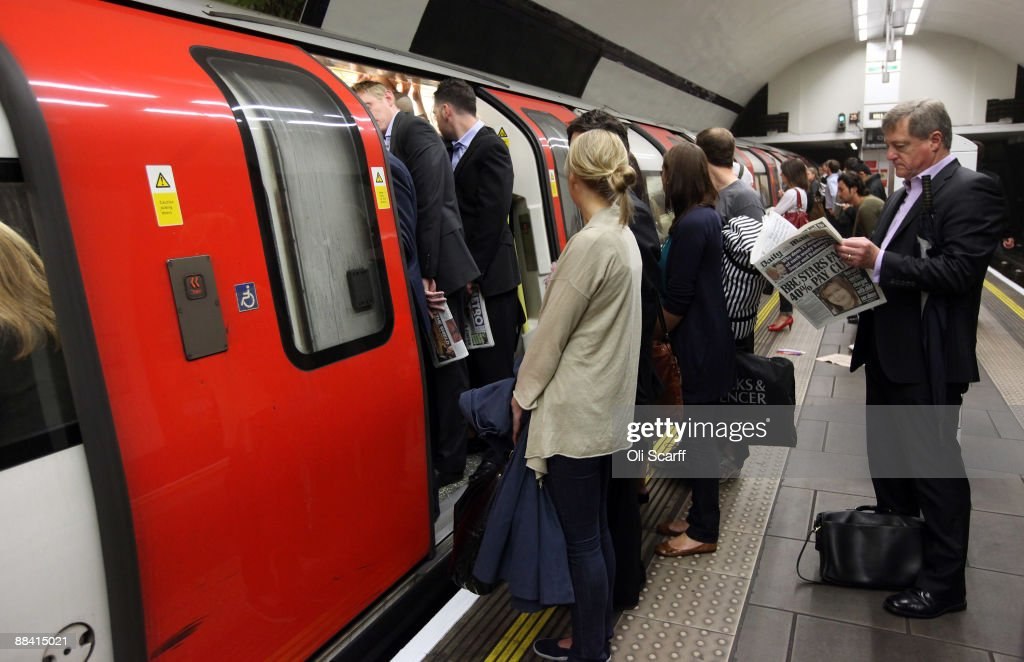 Commuters are unable to board a full tube train in Clapham Common station on one of the few London Underground services operating through the RMT Union's tube strike on June 11, 2009 in London, England. A 48 hour strike began at 7pm on Tuesday after discussions over pay and working conditions between London Underground bosses and the RMT Union failed to reach a conclusion.