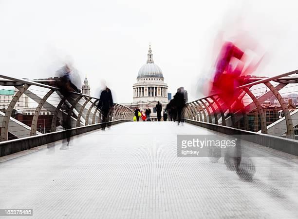 Commuters in London