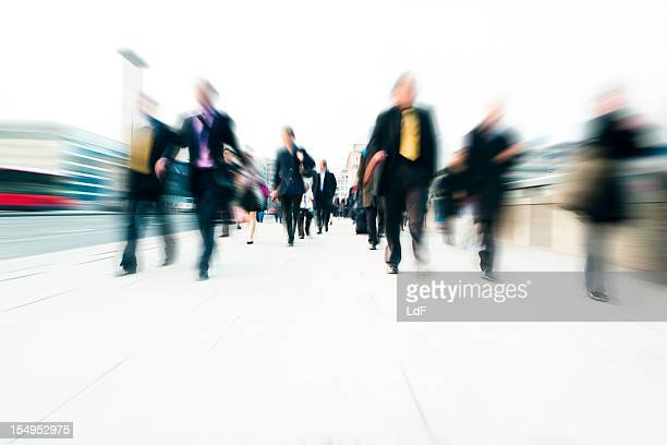 Pendler in der Stadt