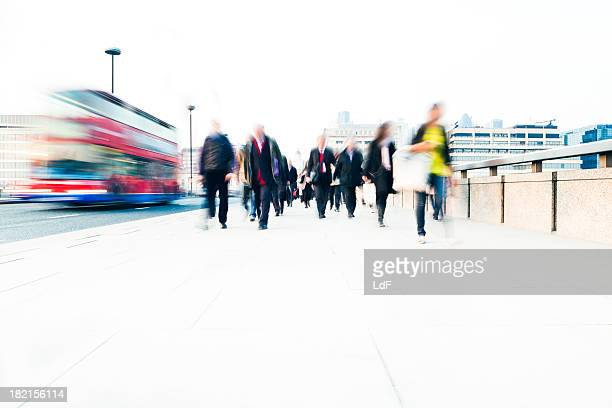 Commuters in the city