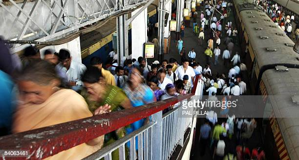 Commuters leave the Chattrapathi Shivaji Terminus formerly known as Victoria Terminus in Mumbai on December 17 2008 CST station was one of several...