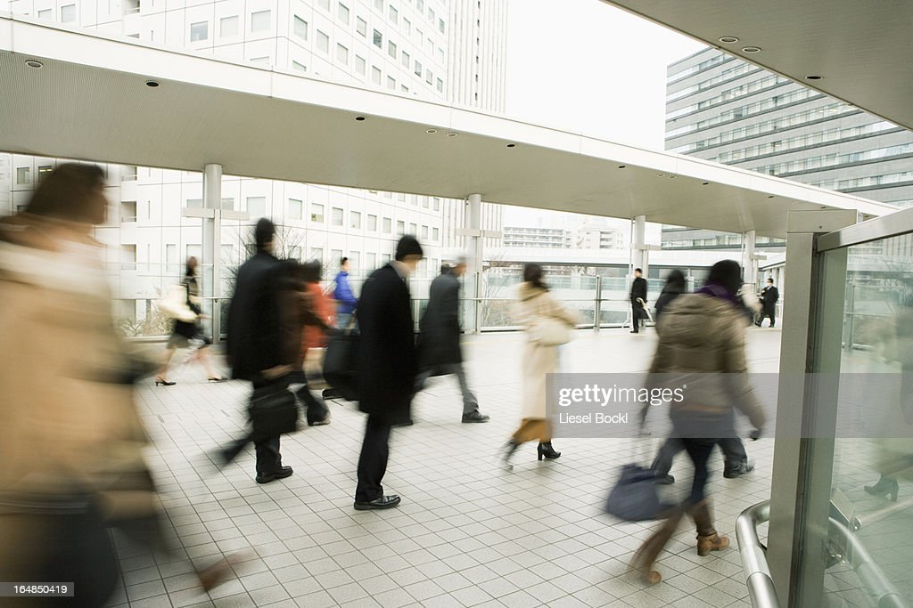 Commuters on the move : Stock Photo