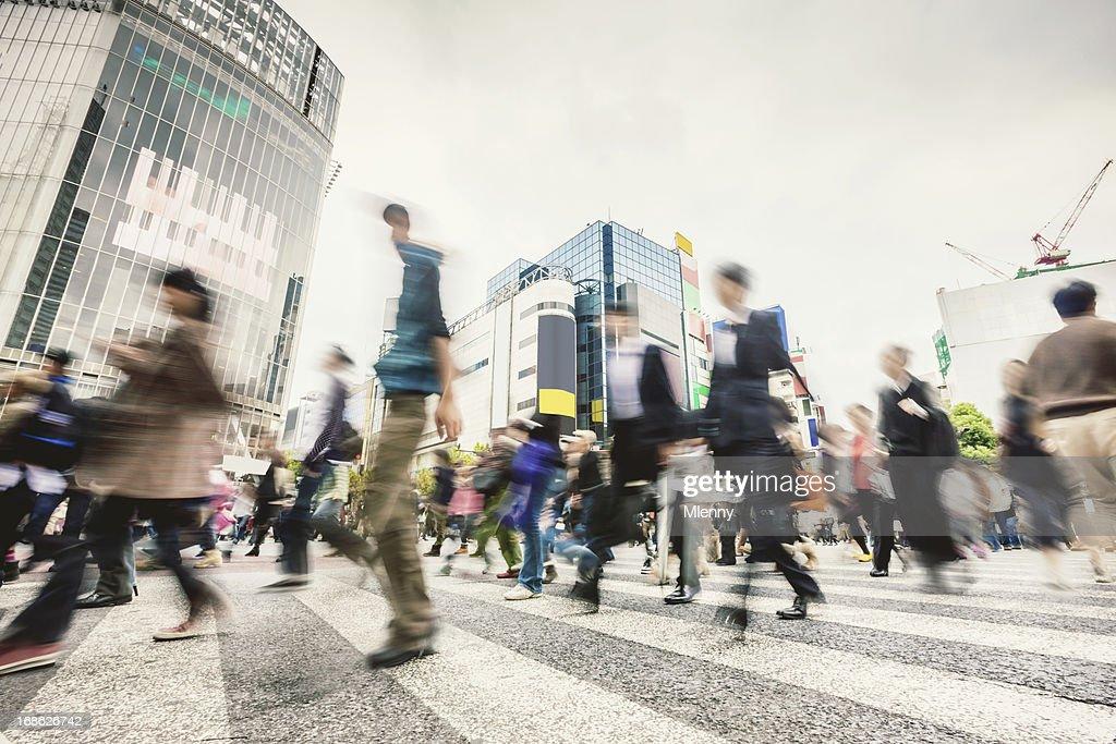Commuters Shibuya Crossing,Tokyo Japan