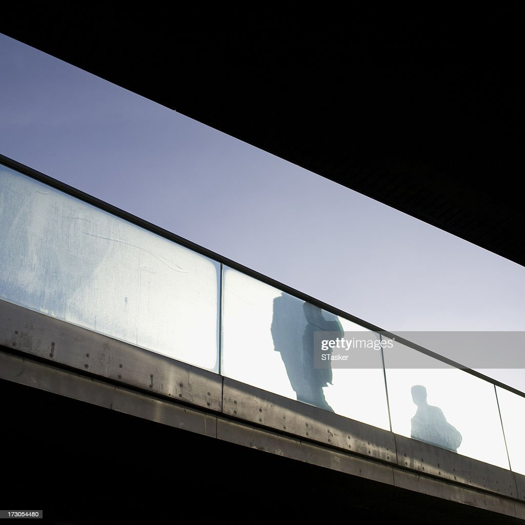 Commuters silhouette : Stock Photo