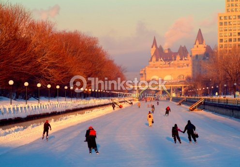 commuters skating to work on the rideau canal ottawa canada photo thinkstock. Black Bedroom Furniture Sets. Home Design Ideas
