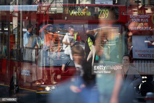 Commuters toandfro in the heat of a city summer during a 3day underground tube strike in September 2007 This is Victoria mainline station during a...