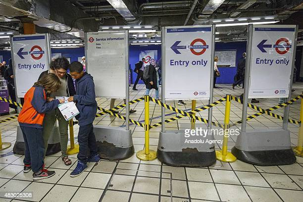 Commuters trying to find alternative routes during the tube trains at Victoria station ahead of the Tube strike in the evening rush hour of Wednesday...