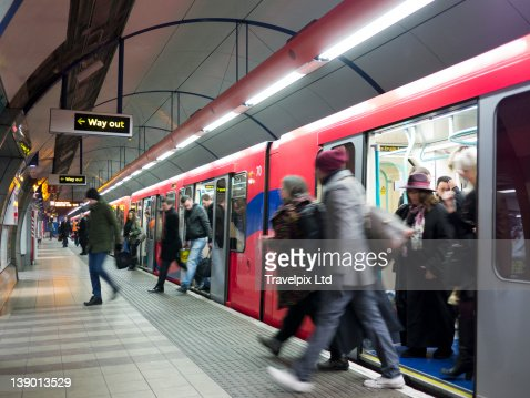 Commuters using the London Underground