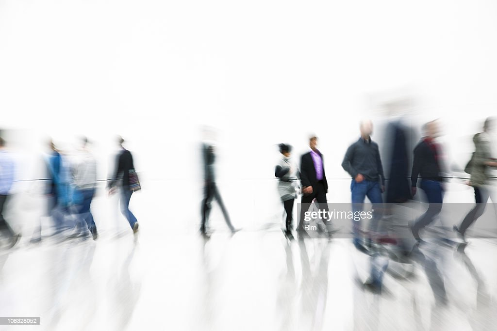 People Walking, Motion Blur : Stock Photo