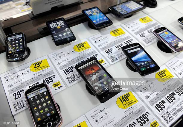 DENVER COMobile phones at Best Buy on S Colorado Blvd and Mexico Ave Thursday afternoon that qualify for the purchase of the 'FutureProof Buy Back...