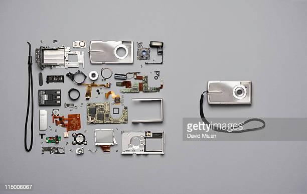 Compact camera components & assembled camera