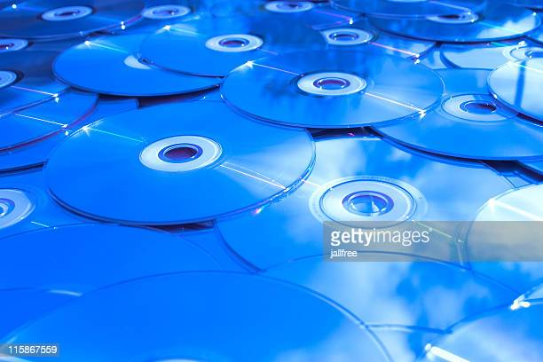 Compact disc digital media reflecting blue sky