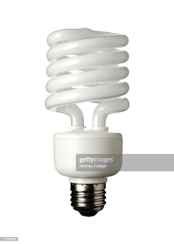 Compact fluorescent light bulb : Stock Photo