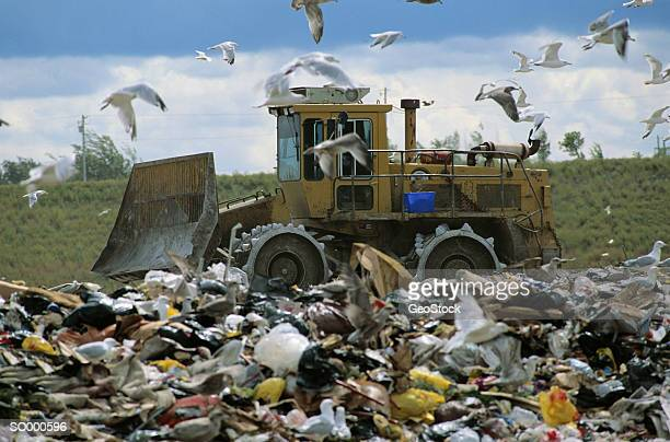 Landfill Compactors Garbage Pictures : Trash compactor stock photos and pictures getty images
