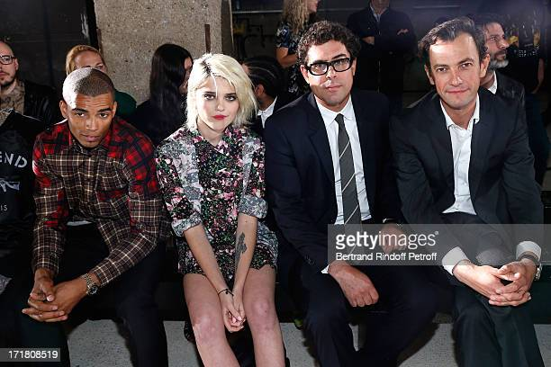 Companion of Madonna Brahim Zaibat Singer Sky Ferreira CEO of Givenchy Couture Sebastian Suhl and Chairman and CEO of LVMH Fashion Division...