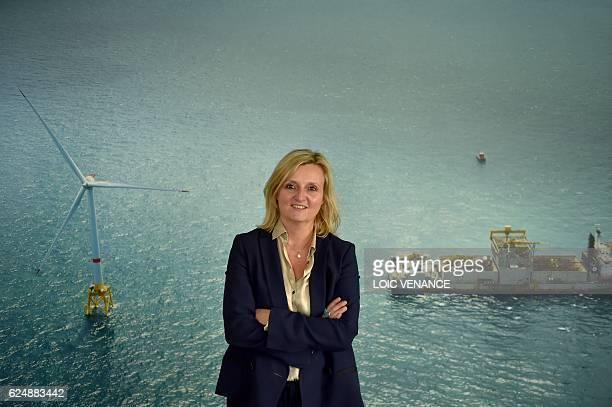 US company General Electric France CEO Corinne de Bilbao poses on November 21 2017 in MontoirdeBretagne western France / AFP / LOIC VENANCE
