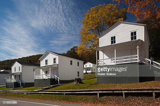 Company houses, Cass Scenic Railroad State Park, Cass, West Virginia, USA