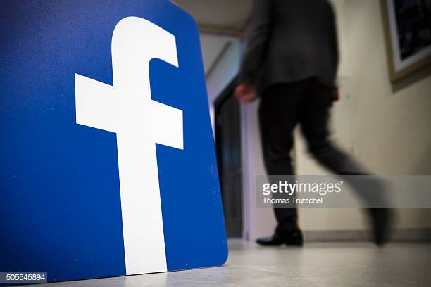 Company Logo of facebook on January 18 2016 in Berlin Germany