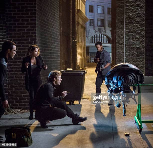 COLONY 'Company Man' Episode 205 Pictured Victor Rasuk as BB Bethany Joy Lenz as Morgan Charlie Bewley as Eckhart Tory Kittles as Broussard
