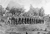 A company of infantry near Harpers Ferry during the American Civil War