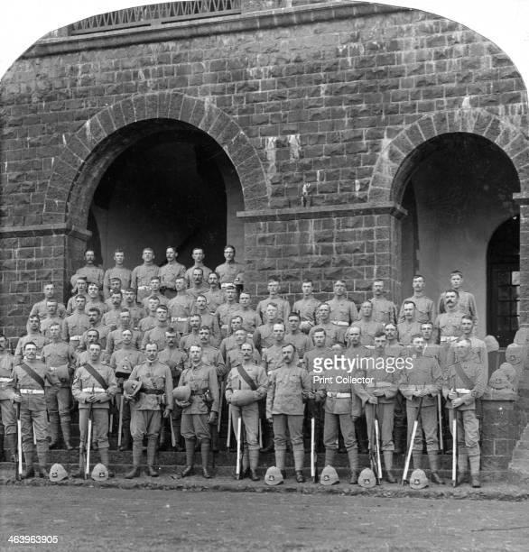'H' Company Royal Warwickshire Regiment Belgaum India 1900s Stereoscopic slide Detail