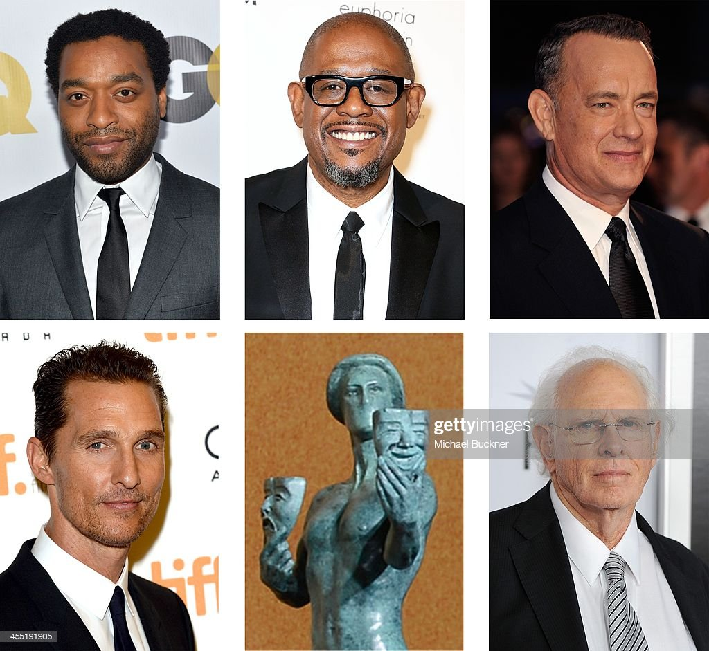 A comparison has been made between the 2014 Screen Actors Guild Awards nominees for Outstanding Performance by a Male Actor in a Leading Role Actor <a gi-track='captionPersonalityLinkClicked' href=/galleries/search?phrase=Bruce+Dern&family=editorial&specificpeople=239171 ng-click='$event.stopPropagation()'>Bruce Dern</a> attends the screening of 'Nebraska' during AFI FEST 2013 presented by Audi at TCL Chinese Theatre on November 11, 2013 in Hollywood, California.