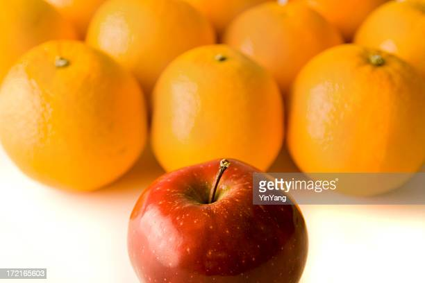 Comparisons—Individual Apple Standing out from the Crowd of Oranges