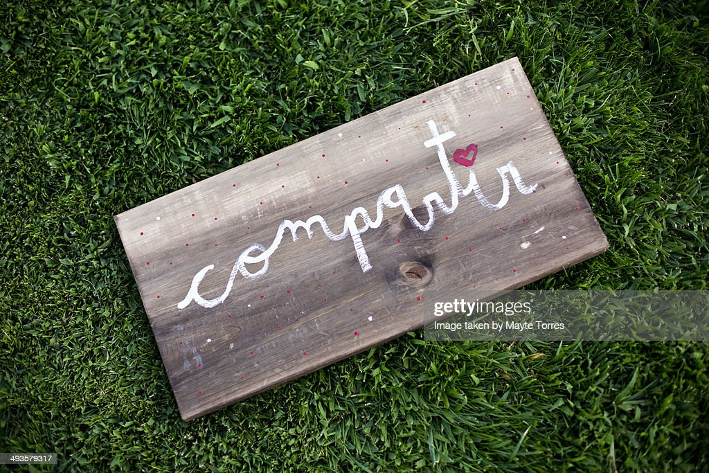 Compartir board  Stock Photo