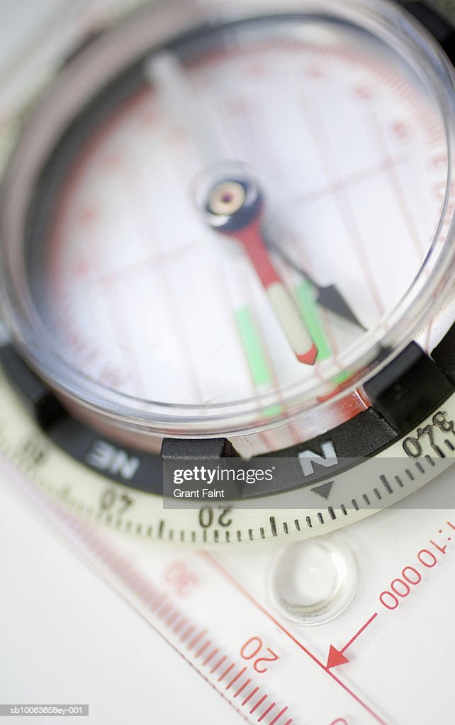 Compass, close-up (differential focus) : Stock Photo