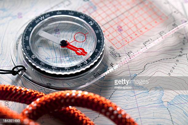 Compass on topographic maps.