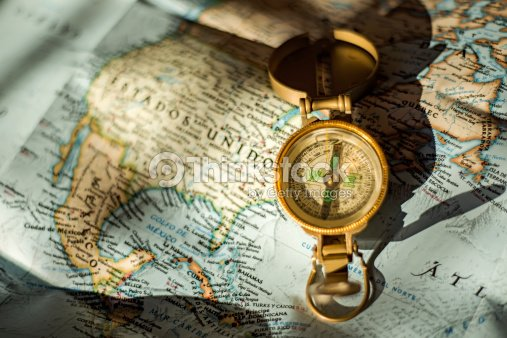 Compass Over Usa Map Stock Photo Thinkstock - Usa map with compass