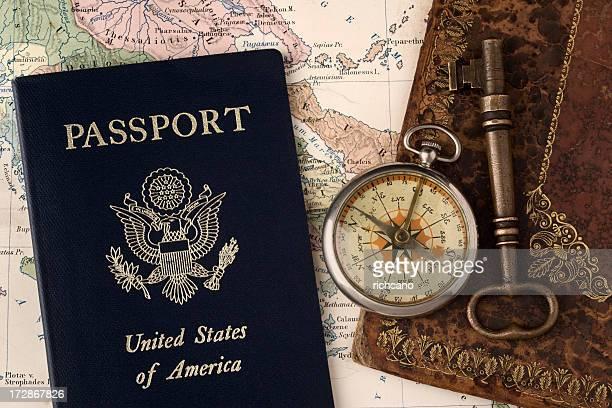 Compass, Passport and Key